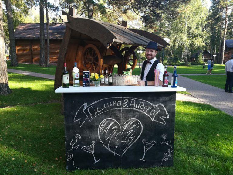 Коктейль бар и хрустальная горка для «Галины & Андрея»